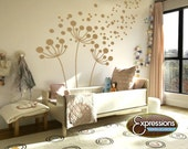 DANDELIONS , vinyl wall decals floral interior design idea stickers