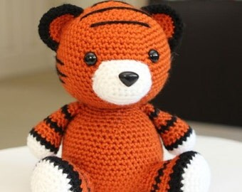 Amigurumi Crochet Pattern - Cubby the Tiger