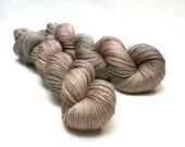 Alpaca  Silk  fingering weight  hand dyed   yarn - Stone