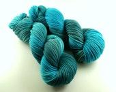 Hand dyed  merino  wool, worsted weight