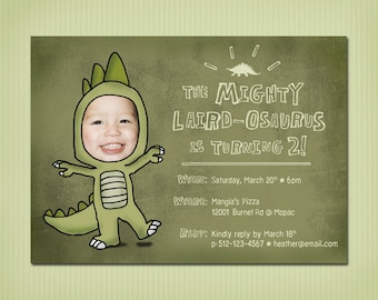 digital dinosaur birthday invite