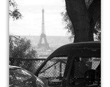 Paris Photography - Paris Decor, Eiffel Tower, Paris photos, Montmartre Paris, French Street View -  Fine Art Photograph B&W