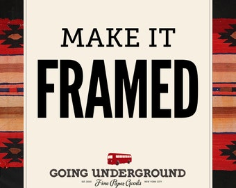 Frame Any Print in Shop - Real Wood Framing, Walnut/Cherry/Honey Maple Finishes, Size Choices