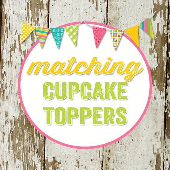 CUPCAKE TOPPERS to match any design for baby shower or birthday party, digital file, printable
