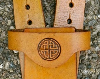 Sword BELT w/ CELTIC KNOT Emblem - Handmade Leather