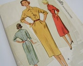 Vintage 1950s Dress Pattern / 1951 McCalls Junior / 31 Bust / Wiggle Dress Pattern / Daytime Dress