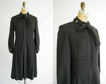 Vintage 1960s Coat / Grey Wool / Joseph Stein / Blum's Vogue Chicago