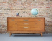 Mid Century Modern Sandalwood Buffet / Sideboard / Bar Cabinet -  Kent Coffey 50s 60s Mad Men
