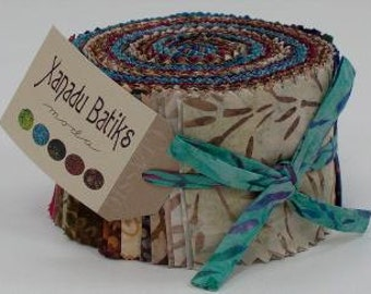 1 Jelly Roll from the Xanadu Batiks Collection by Moda