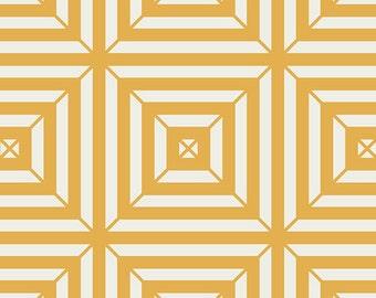 1 Yard Minimalista Optical Honeycomb Yellow by Art Gallery Fabrics In-House Studio