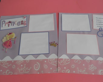 Sale Princess scrapbook album premade 12 by 12