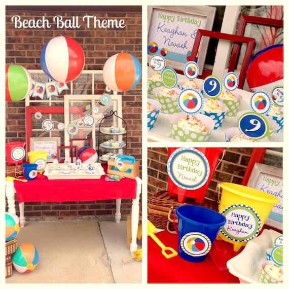 Items Similar To Beach Ball Birthday, Summer Birthday