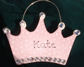 Personalized Wood Chritmas Ornament -  Crown