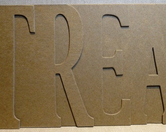 "Halloween trick or ""TREAT"" Bare Chipboard Word Album 5.5 inches high x 12 inches long"