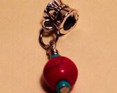 Turquoise Stone European Dangle Bead