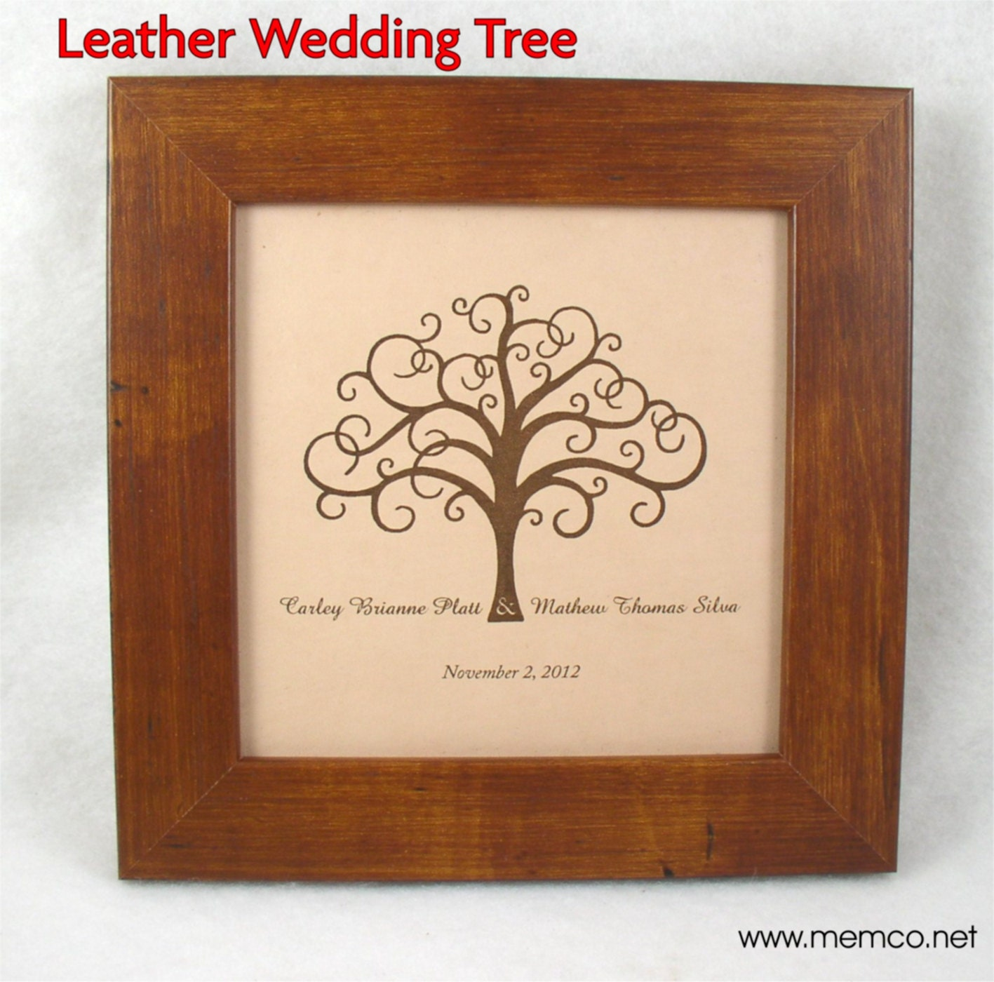 Wedding Gifts For Relatives : Leather Wedding or Anniversary Gift Family Tree Wedding
