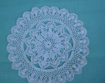Set of  2 Vintage Crocheted Cream Doilies - Vintage style for your Home.