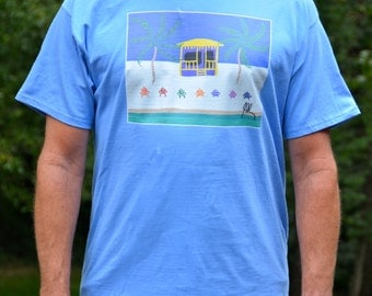 Cotton T-Shirt with Original Artwork by Jeff Schilling Damn the Dullnes