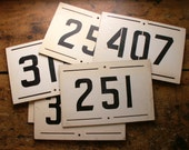 Vintage Railroad Black and White Wooden Mile Marker Signs