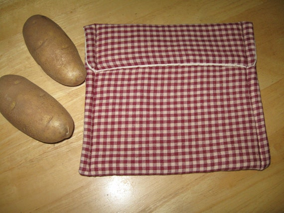 Large Microwave all cotton cooking bag eco friendly bag Baked Potato Bag - Corn on the Cob - Sandwich Bag