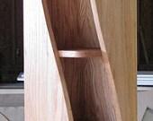 Handmade, 5ft oak, Bookshelf with a twist