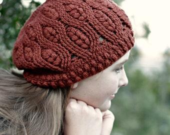 Crochet Pattern. Frostberry Hat, beanie, slouchy, beret. Instant download