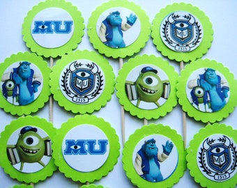 15 Monsters University Party Picks - Cupcake Toppers - Toothpicks - Food Picks - FP360