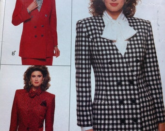 Vintage 80s Easy Jacket pattern Butterick Vintage 80s No. 6664 Sizes 12-14-16 EASY Jacket Semi- Fitted  80s 1988