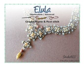 Beading Pattern Peyote and Picot Stitch Necklace Beading Tutorial ELULA