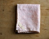 DISH TOWEL - linen red stripe