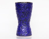 Vintage German Cobalt Lava Vase (2)  -  70s
