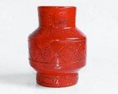 Bitossi Red Italian Vase -  Rare