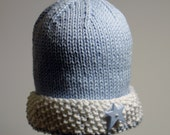 PDF PATTERN:  Watch Cap Seed Stitch Brim Infant, Toddler, Children's Hat