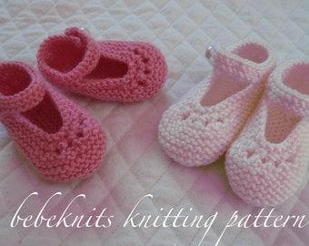 Bebeknits Eyelet  Baby Bootie Knitting Pattern