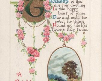 Birthday Sentiment Postcard 1914 Postmark Waynesboro PA