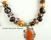 Necklace Of Orange, Black & White