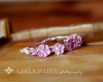 Flower Newborn Crown, Lilac Baby Halo, Mini Baby Crown, Lilac Baby Crown, Lilac Newborn Crown, Baby Girl Photo Props, Newborn Girl Props