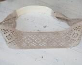 Tan lace/crochet headband