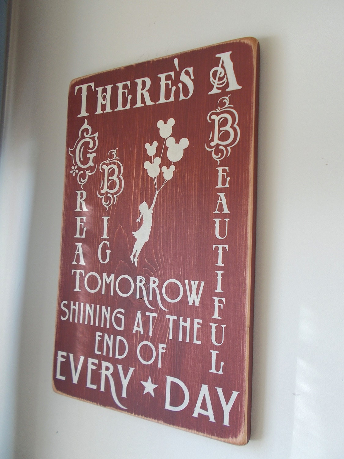 There's A Great Big Beautiful Tomorrow Wood Sign Disney