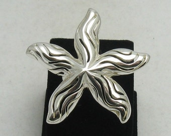 R000638 STERLING SILVER  Ring Solid 925 Sea Star