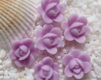 Resin Daffodil Flower Cabochon - 13mm - 12 pcs - Lavender