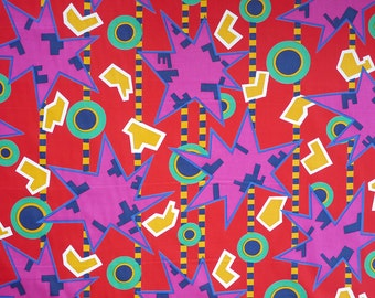 Nathalie du Pasquier original ZAMBIA (Red) Fabric for MEMPHIS 1982