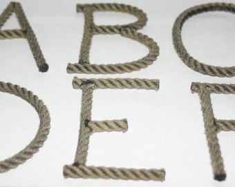 Rope Letters Custom Upcycled Rope Nautical Decor Great For Nursery or Weddings