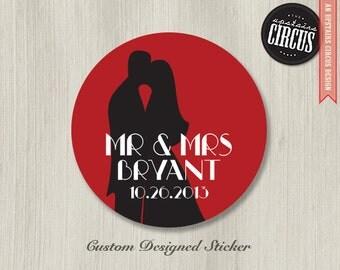 Custom Wedding Stickers - First Dance Theme