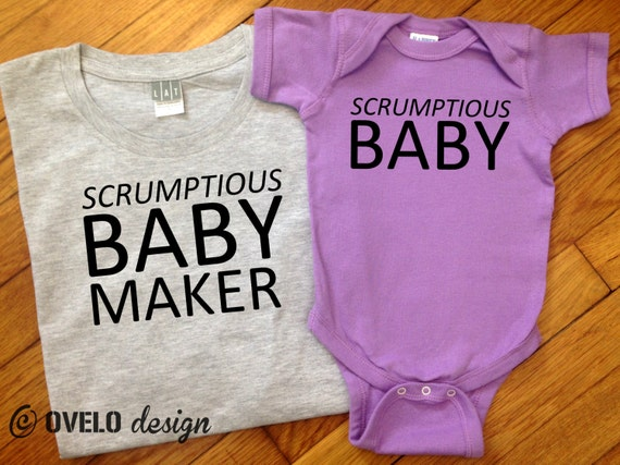 Srumptious Baby Daddy and Me Men's T-shirt and Bodysuit Set