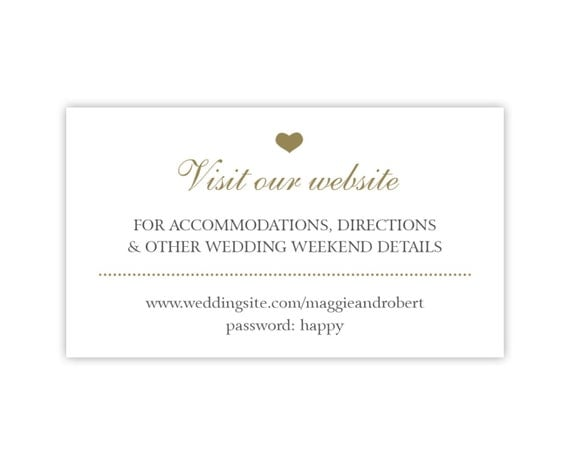 Wedding Gift Card Registry Wording : ... Cards in White with Gold Heart, Wedding Hashtag Cards or Gift Registry