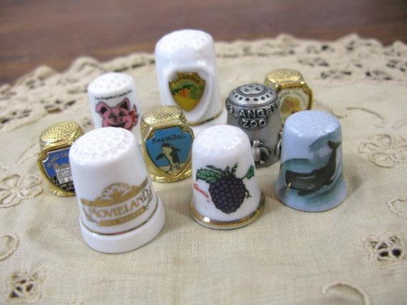 Vintage California Thimble Collection