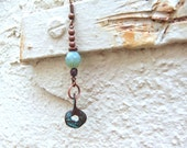 Melbourne Collection earrings - copper, turquoise and patina