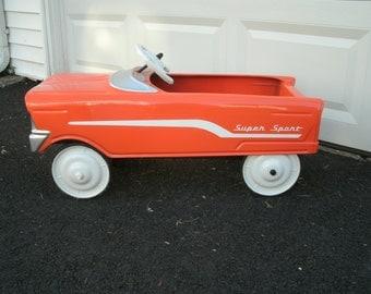 1960's Murray Tee-Bird Pedal Car--Restored--Bright Orange