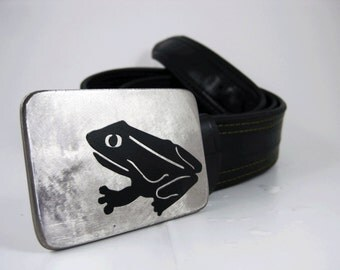 Frog Belt Buckle - Stainless Steel - Handmade